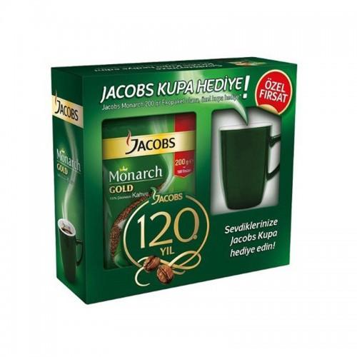 Jacobs Monarch Gold 200 gr Kahve Kupa Bardak Hediyeli
