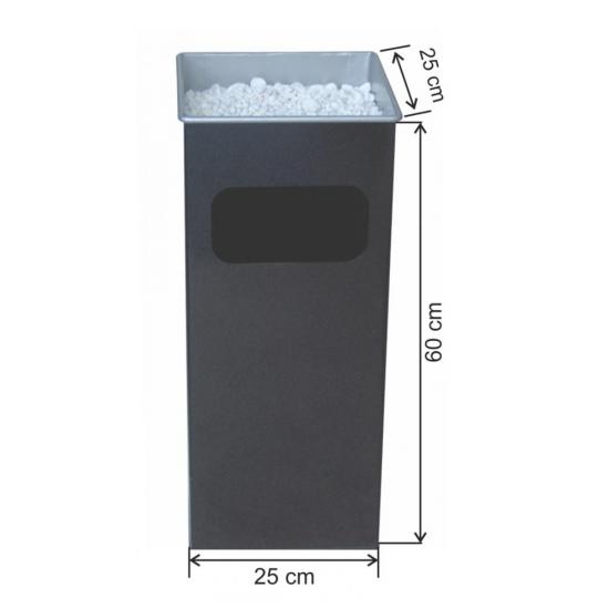 Kare Küllüklü Çöp Kovası Boyalı 37 Litre