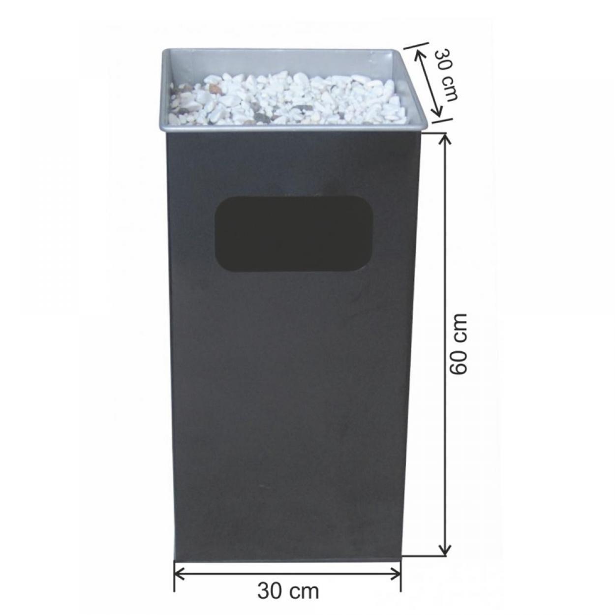Kare Küllüklü Çöp Kovası Boyalı 54 Litre
