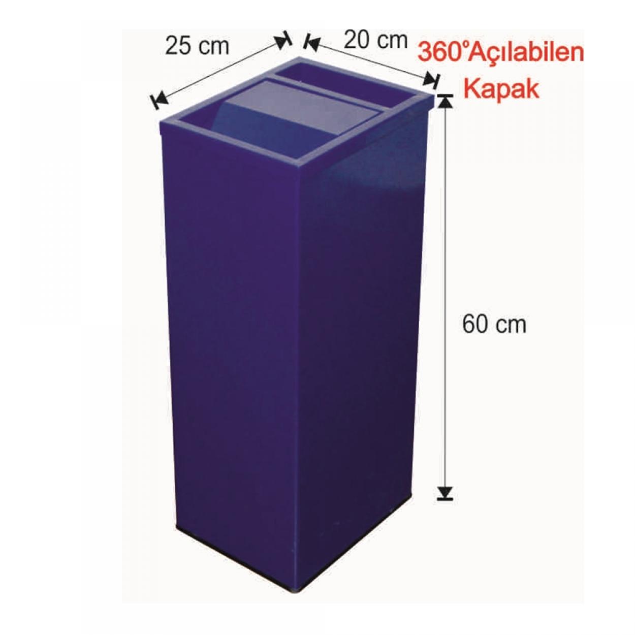 Küllüklü Çatı Kapaklı Çöp Kovası Boyalı 30 Litre