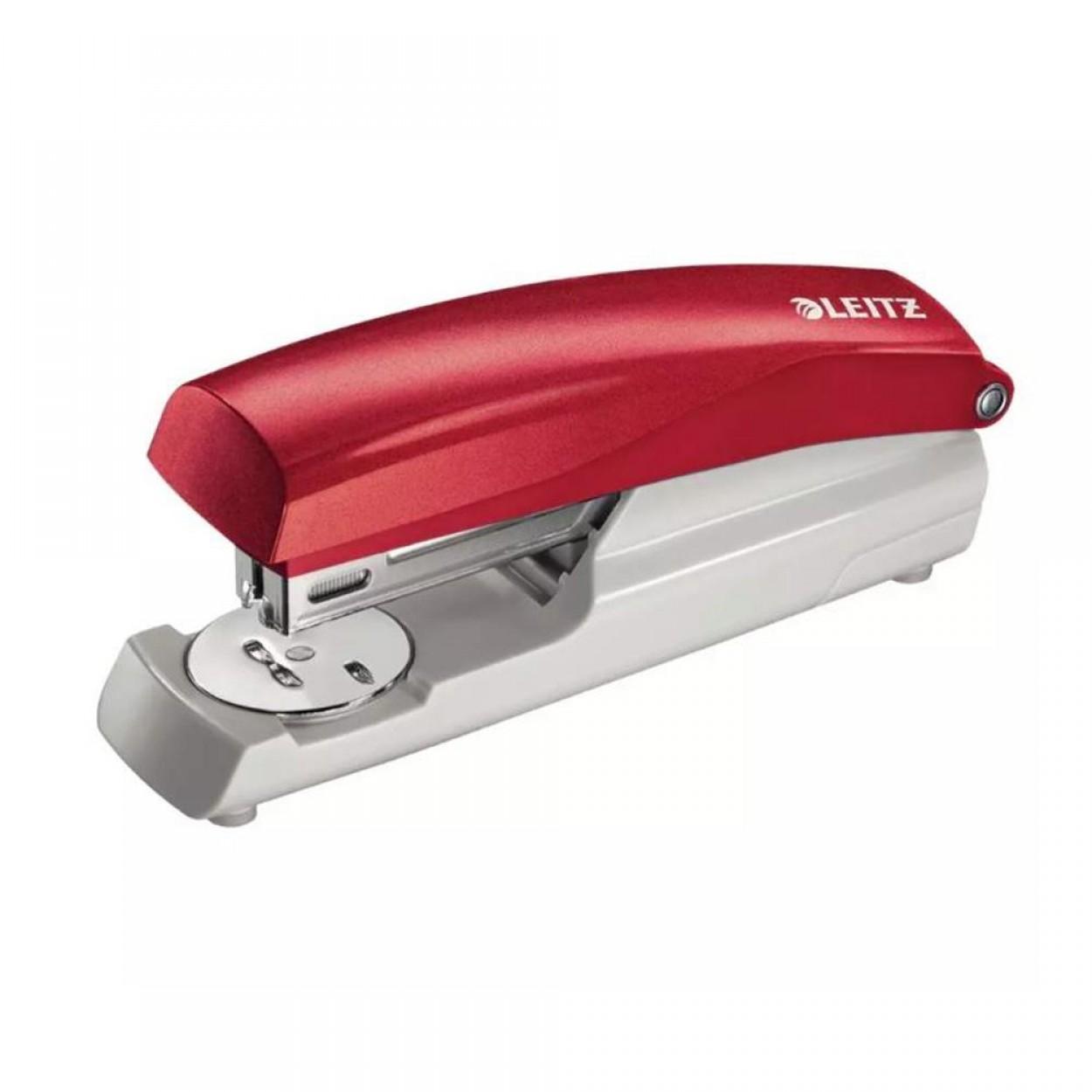 Leitz 5500 Kırmızı Zımba Makinesi (30 Sayfa Kapasiteli)