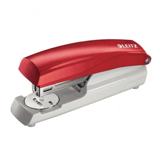 Leitz 5501 Kırmızı Zımba Makinesi (25 Sayfa Kapasiteli)