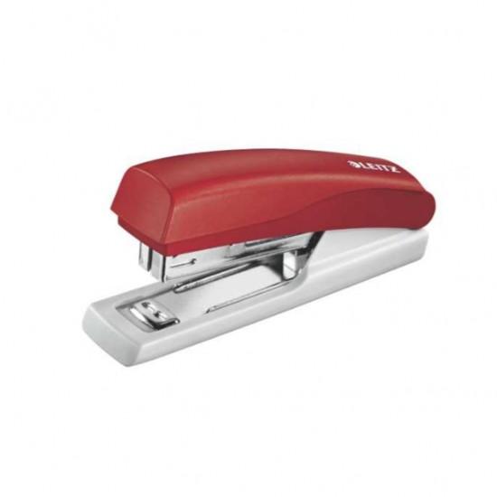 Leitz 5517 Kırmızı Zımba Makinesi (10 Sayfa Kapasiteli)