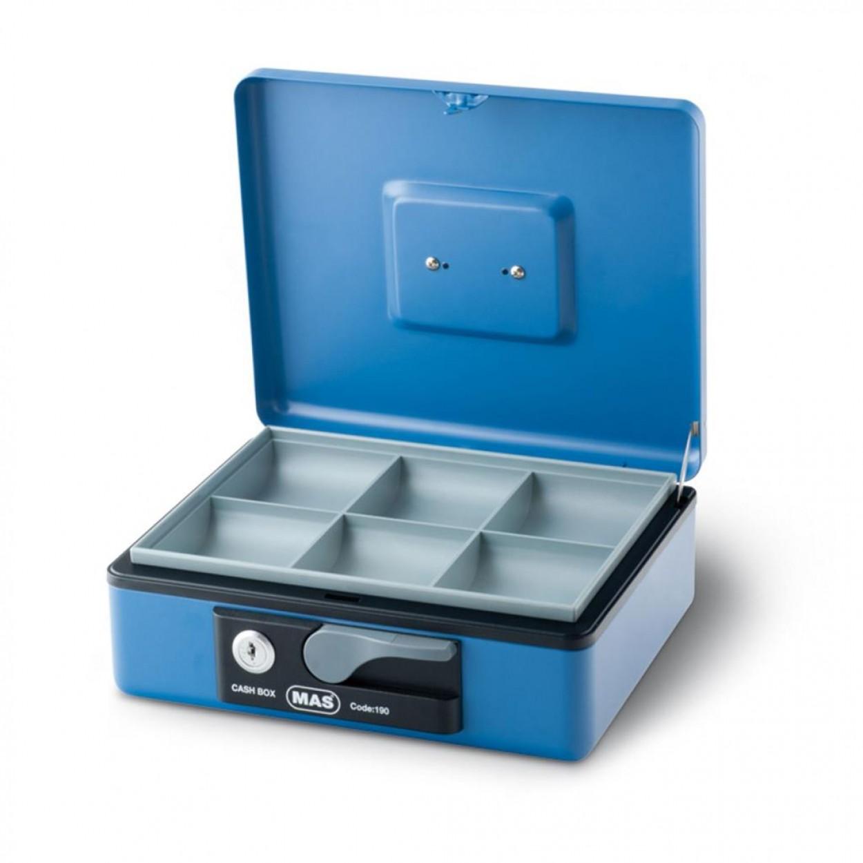 Mas 190 Büyük Boy Metal Para Kasası Mavi