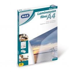 Mas 7706 Laminasyon Filmi A4 125 Mikron 100 Lü Paket