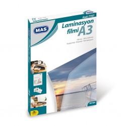 Mas 7707 Laminasyon Filmi A3 125 Mikron 100 Lü Paket