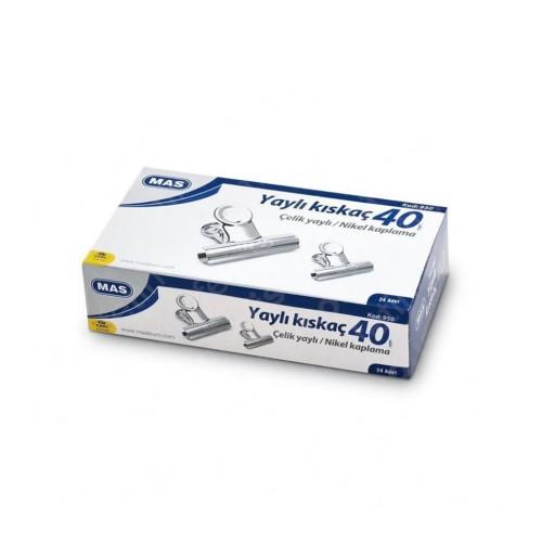 Mas 950 Beyaz Metal Kıskaç 40 mm 24 lü Paket
