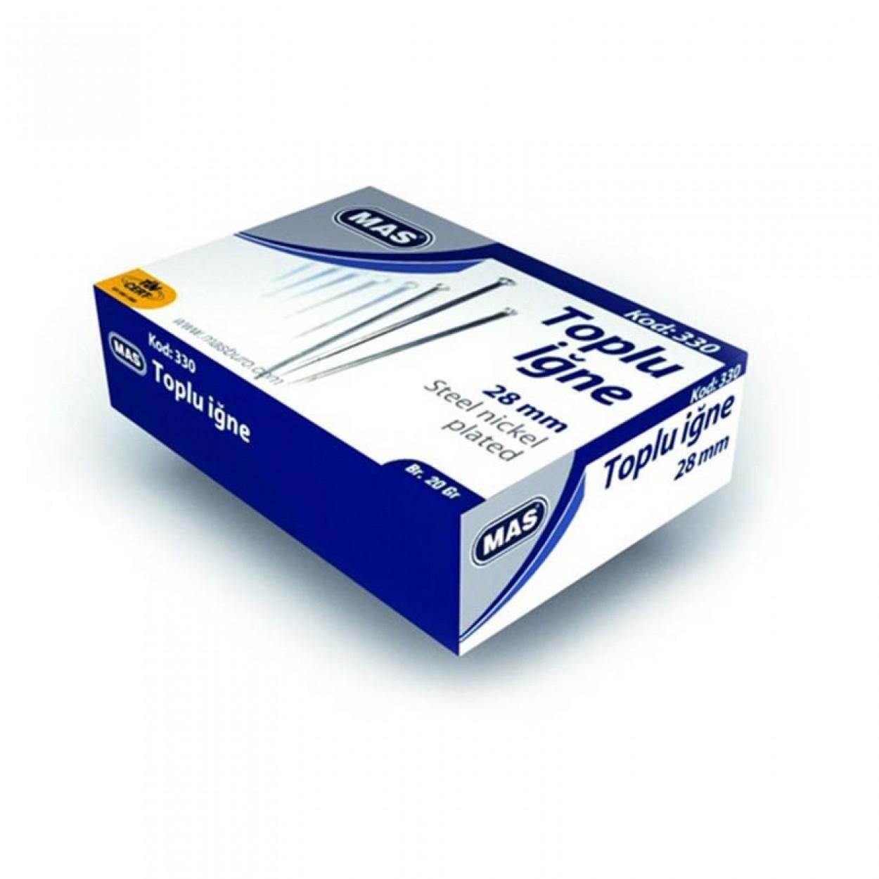 Mas Toplu İğne 20 gr.(Nikelli) 28mm.