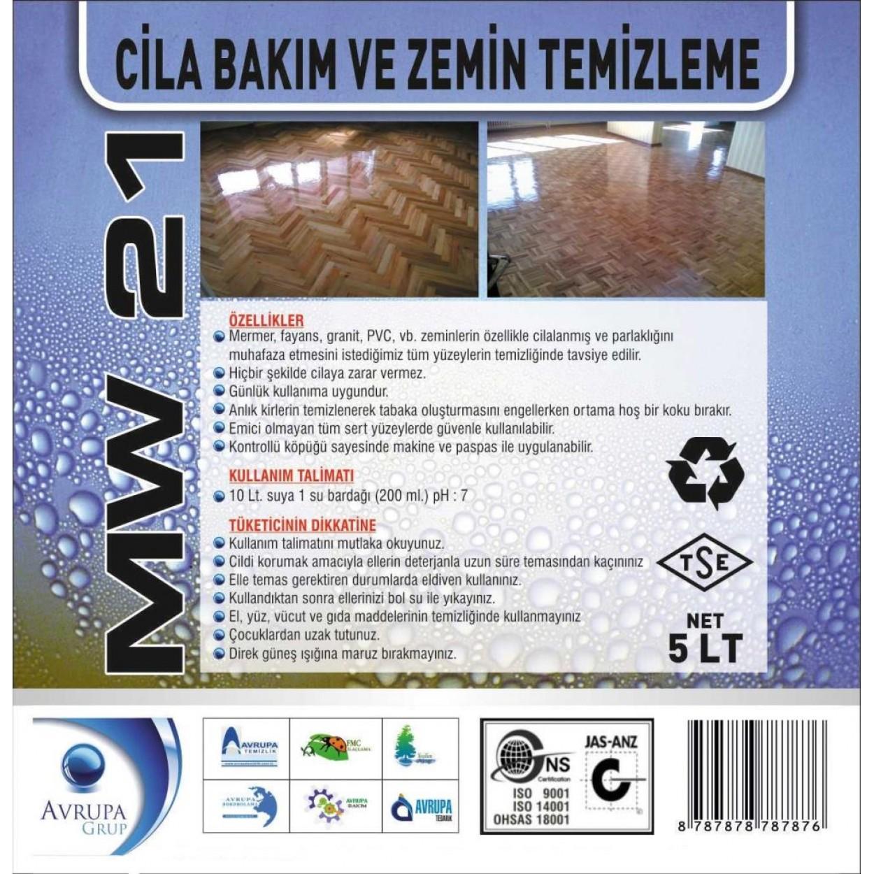 MW 21  Cila Bakım ve Zemin Temizlik Ürünü 5 Litre
