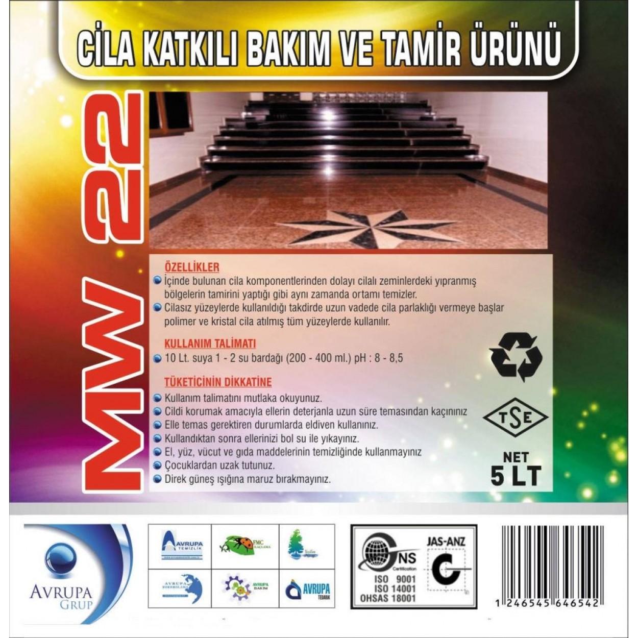 MW 22 Cila Katkılı Bakım ve Tamir Ürünü 5 Litre
