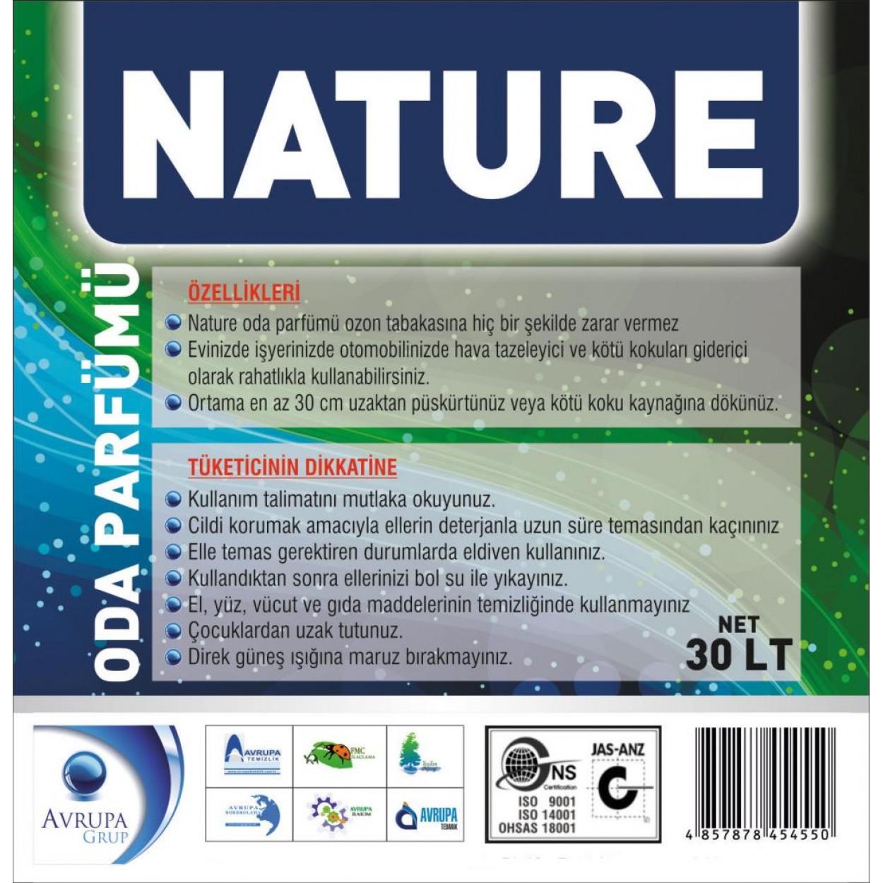 NATURE Kötü Kokuları Gideren Hava Şartlandırıcı 30 Litre