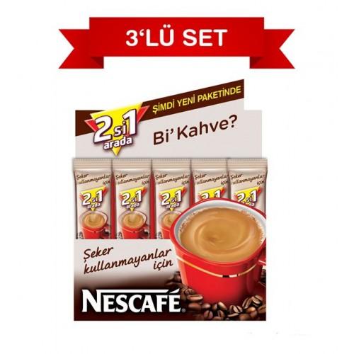 Nescafe 2'si 1 Arada Şekersiz 10.5 gr 48'li Paket 3 Lü