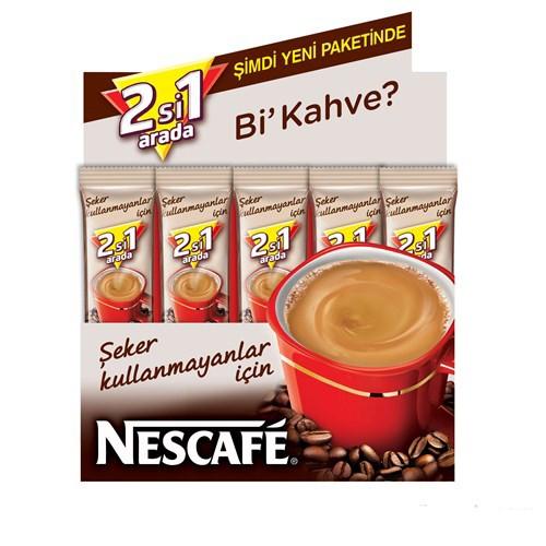 Nescafe 2'si 1 Arada  Şekersiz 10.5 gr 48'li Paket