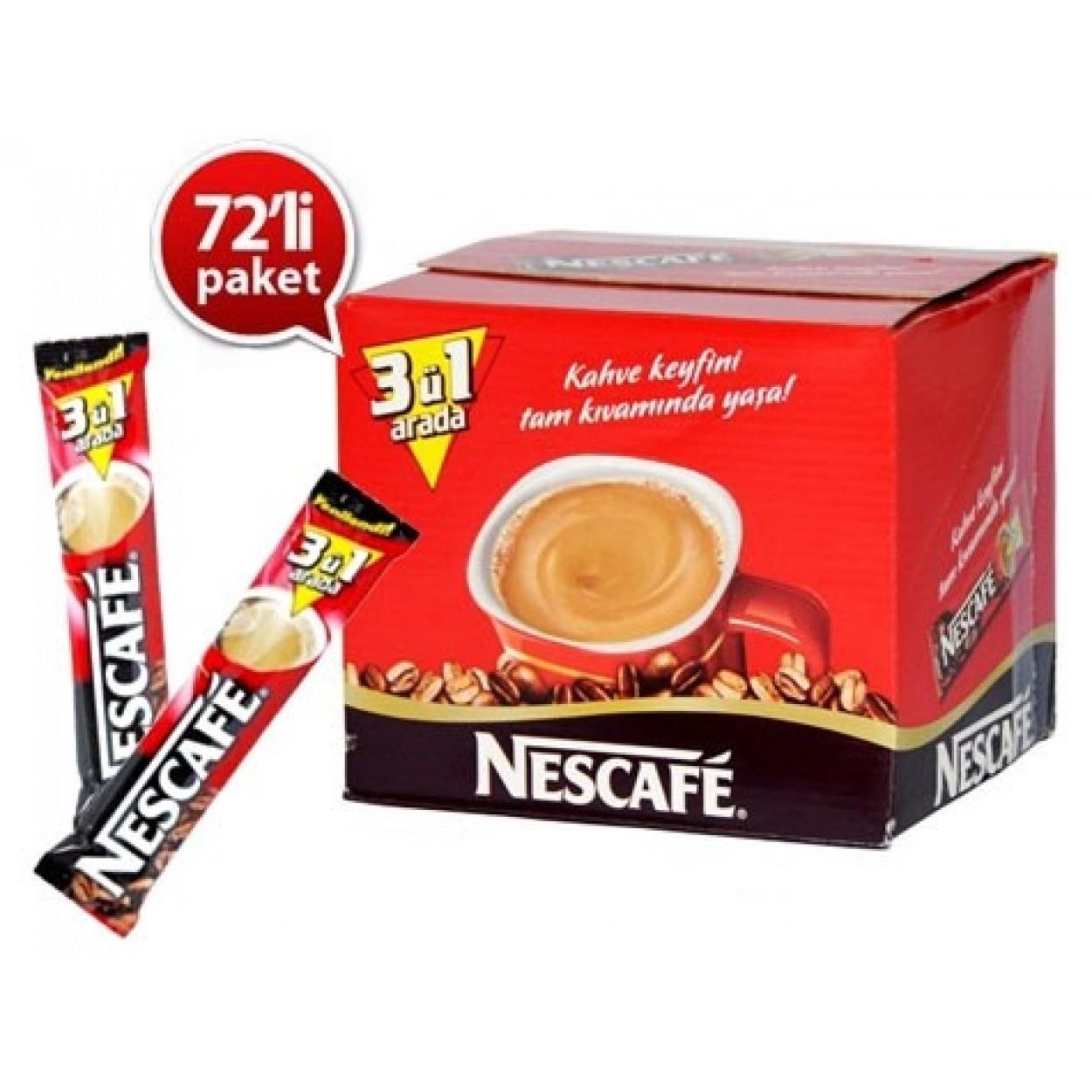 Nescafe 3'ü 1 Arada 17.5 gr 144'lü Paket