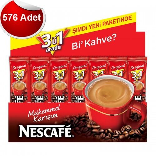Nescafe 3'ü 1 Arada 17.5 gr 576'lı Paket