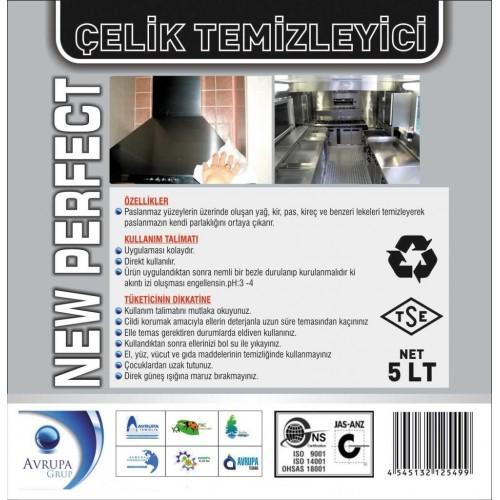 NEW PERFECT Paslanmaz Çelik Temizleme Ürünü 5 Litre