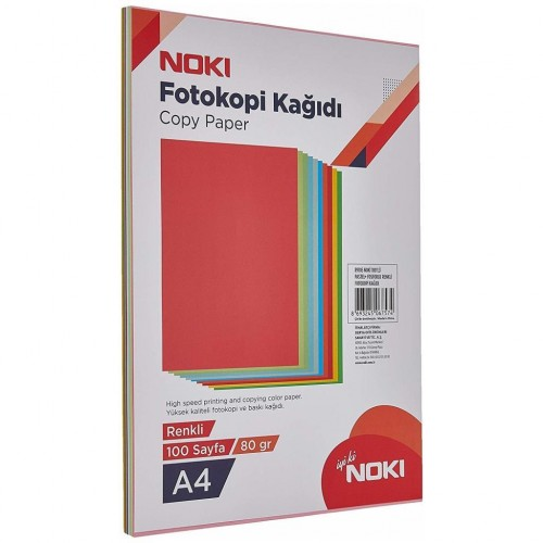 Noki Fotokopi Kağıdı 10 Renkli 100'Lü