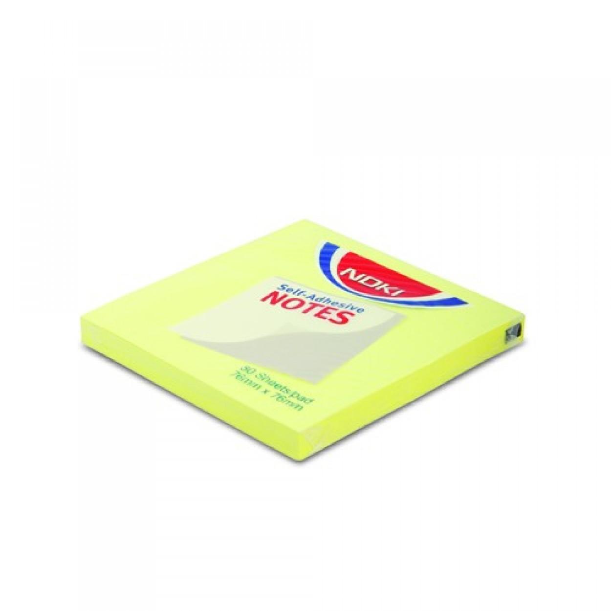 Noki Memo Stıck 50*75 Limon Sarı Yapışkanlı Not Kağıdı