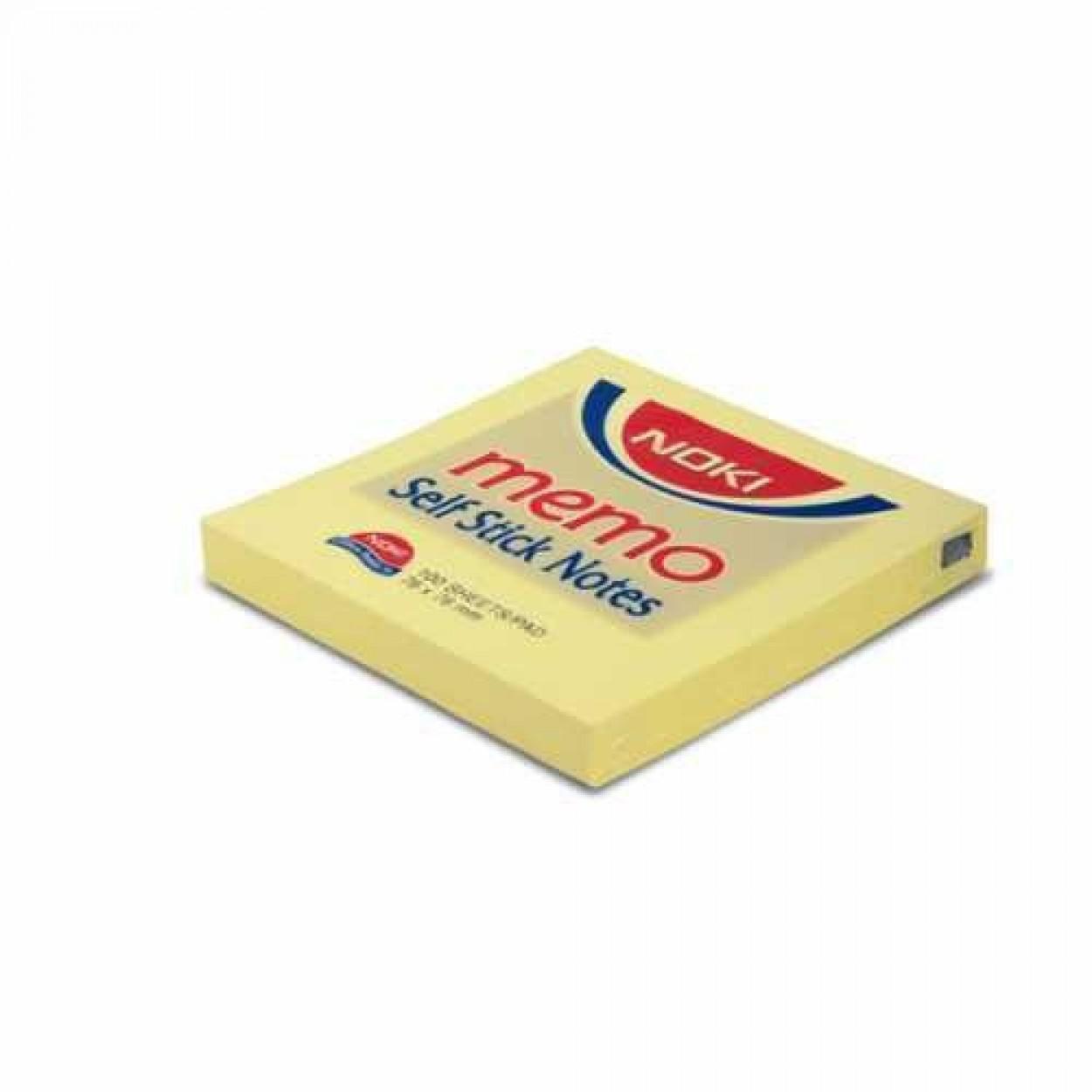 Noki Memo Stıck 75*75 Limon Sarı Yapışkanlı Not Kağıdı 12 Li Paket