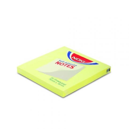Noki Memo Stıck 75*75 Limon Sarı Yapışkanlı Not Kağıdı