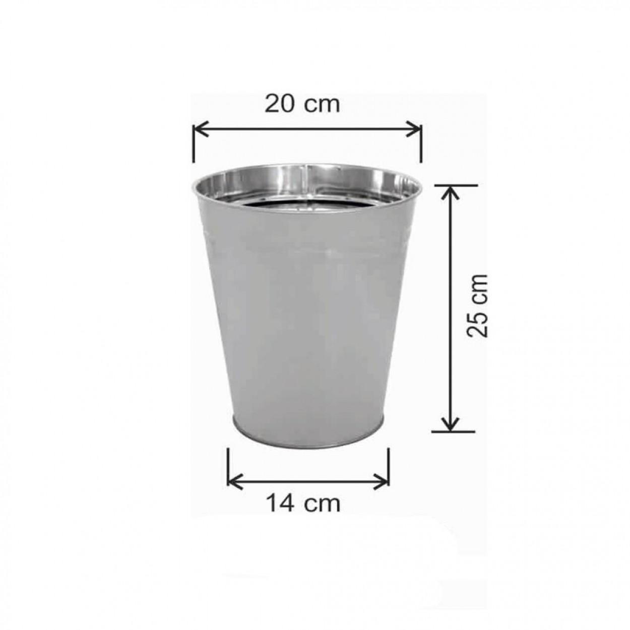 Ofis Tipi Çöp Kovası Konik Tip 6 Litre