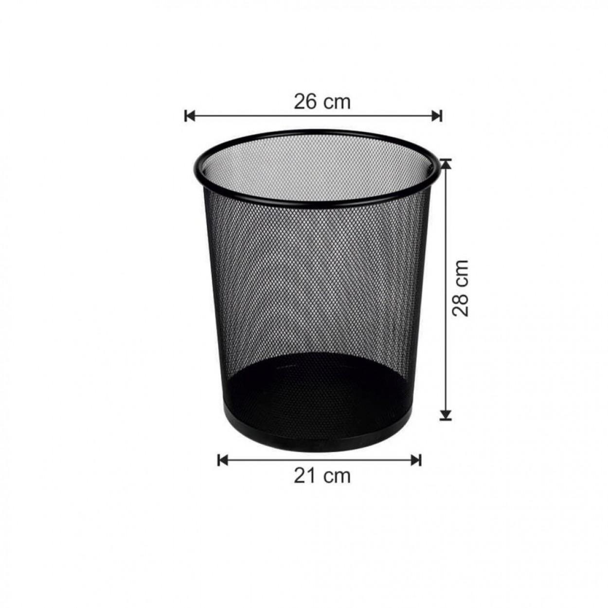 Ofis Tipi Çöp Kovası Konik Tip Fileli 12 Litre