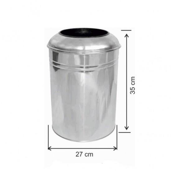 Ofis Tipi Çöp Kovası Paslanmaz 23 Litre  İç Kovalı