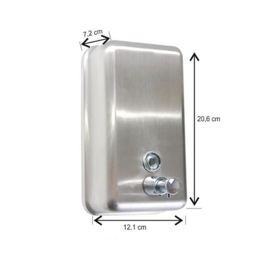 Paslanmaz 304 Kalite Sıvı Sabunluk Dikey 1000ml