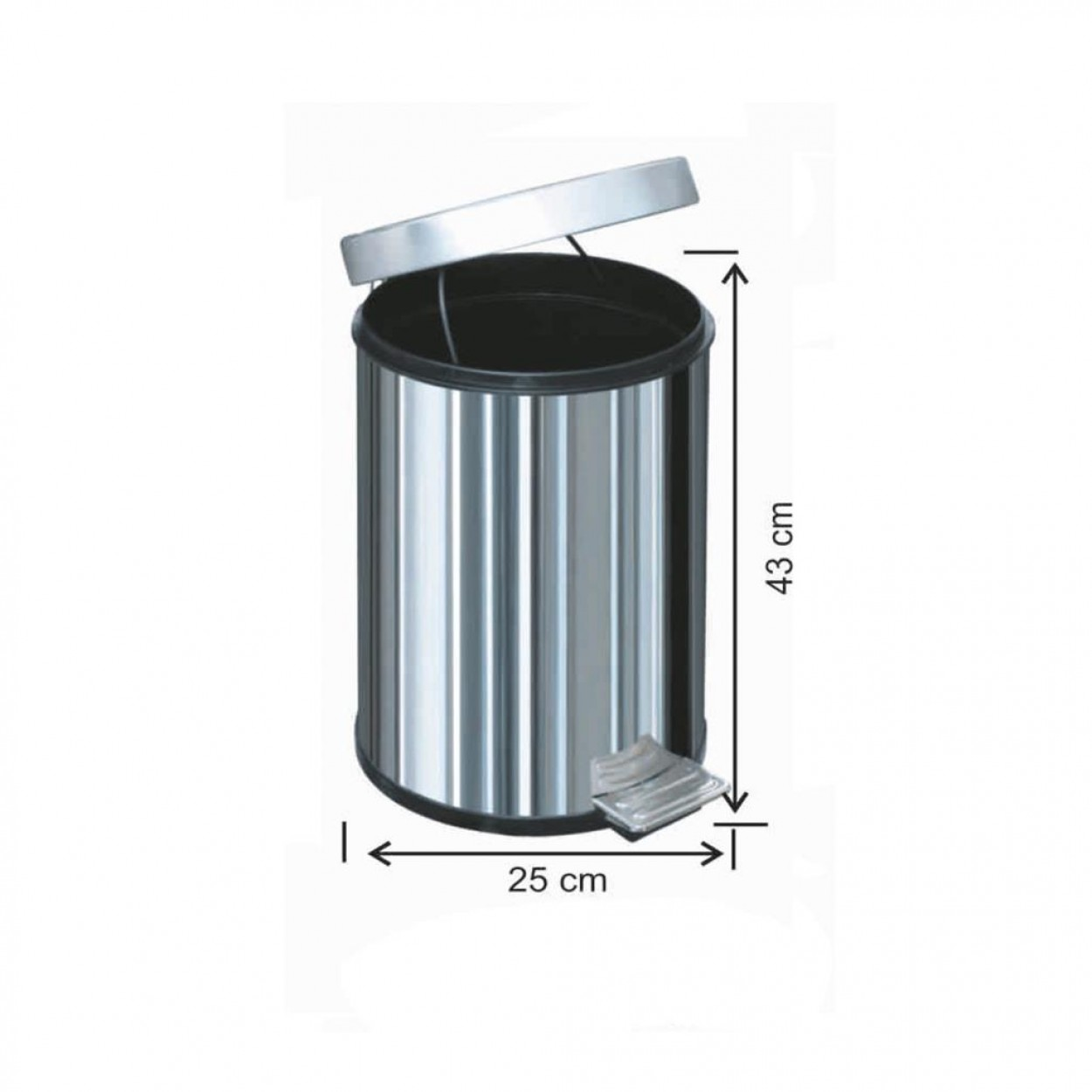 Pedallı Çöp Kovası 16 Litre