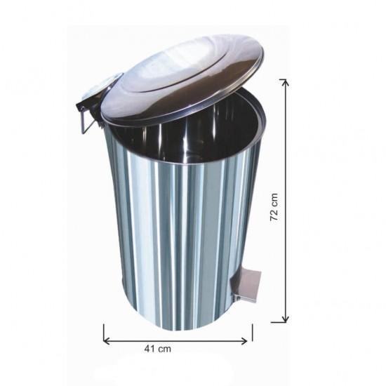 Pedallı Çöp Kovası 95 Litre Paslanmaz
