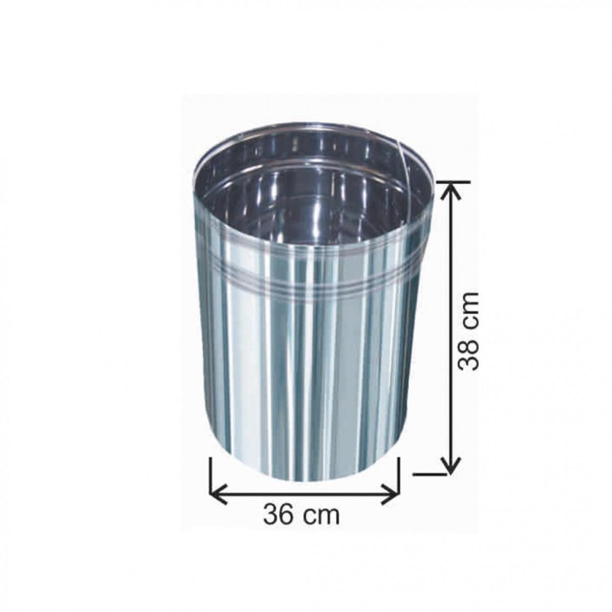 Pedallı Çöp Kovası İçi Yedek  40 Litre