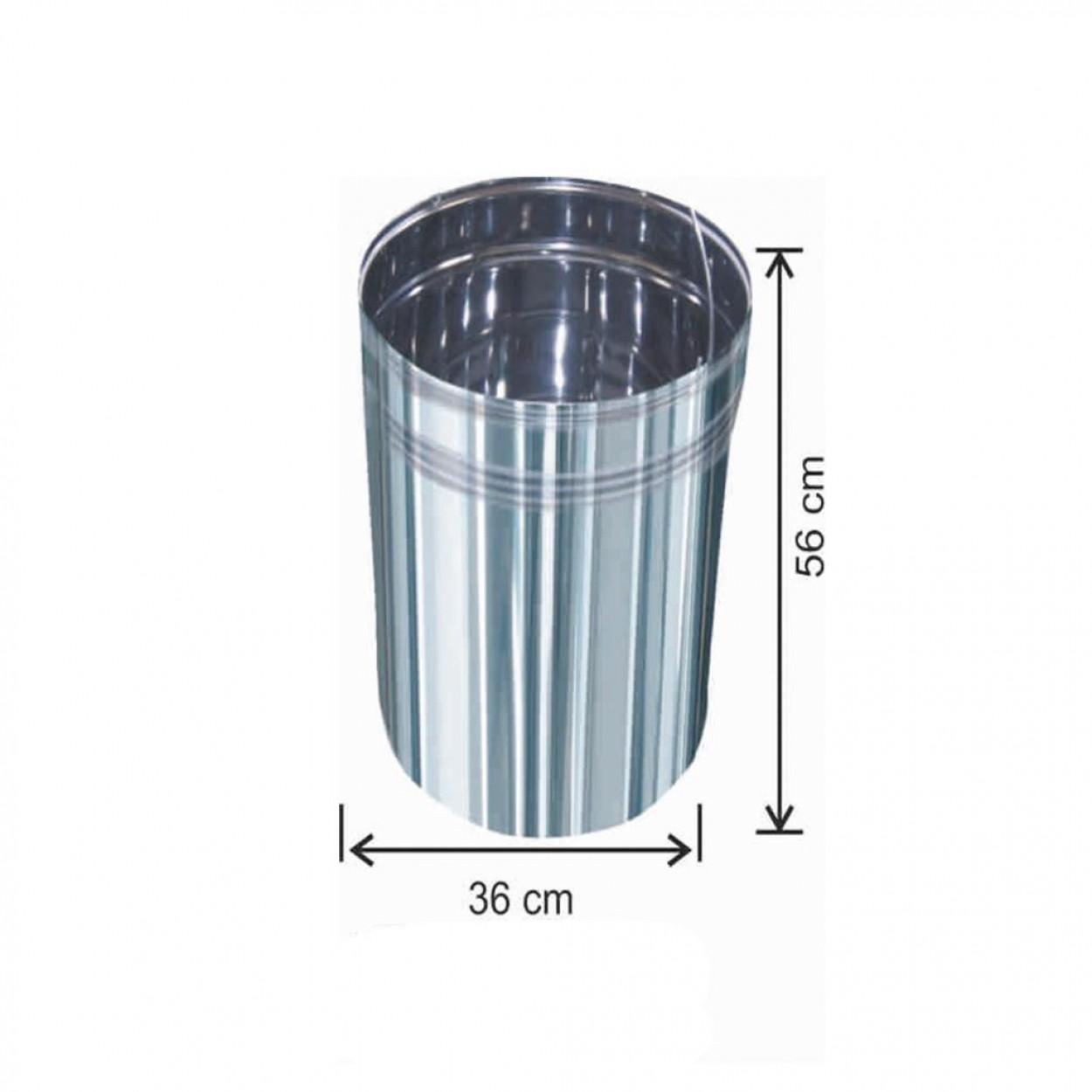 Pedallı Çöp Kovası İçi Yedek 70 Litre Paslanmaz