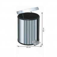 Pedallı Çöp Kovası Su Sızdırmaz İç Kovalı Paslanmaz 60 Litre