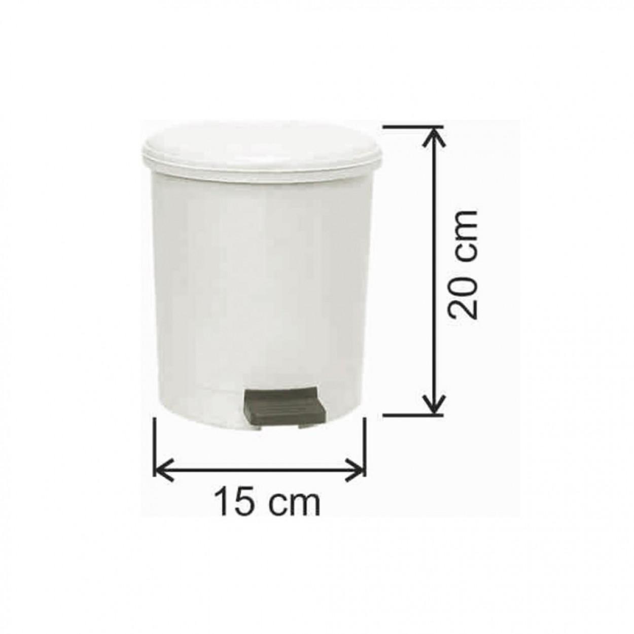 Pedallı Plastik Çöp Kovası Yuvarlak 3.5 Litre