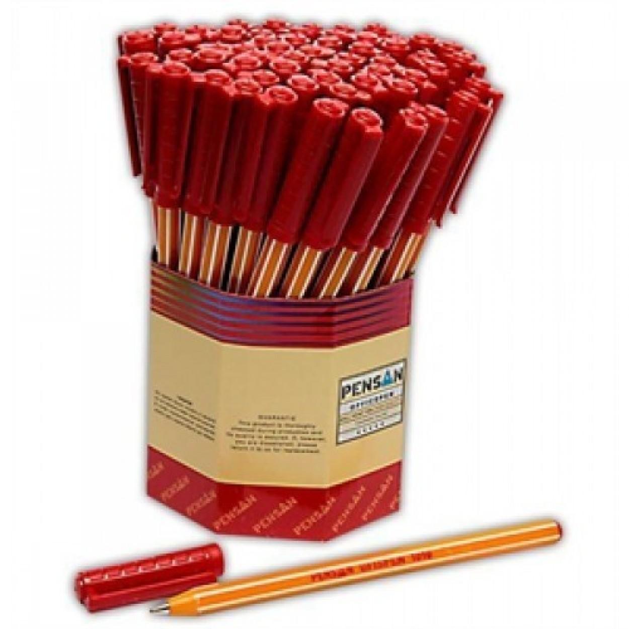 Pensan 1010 Tükenmez Kalem Kırmızı 60 Lı Kutu