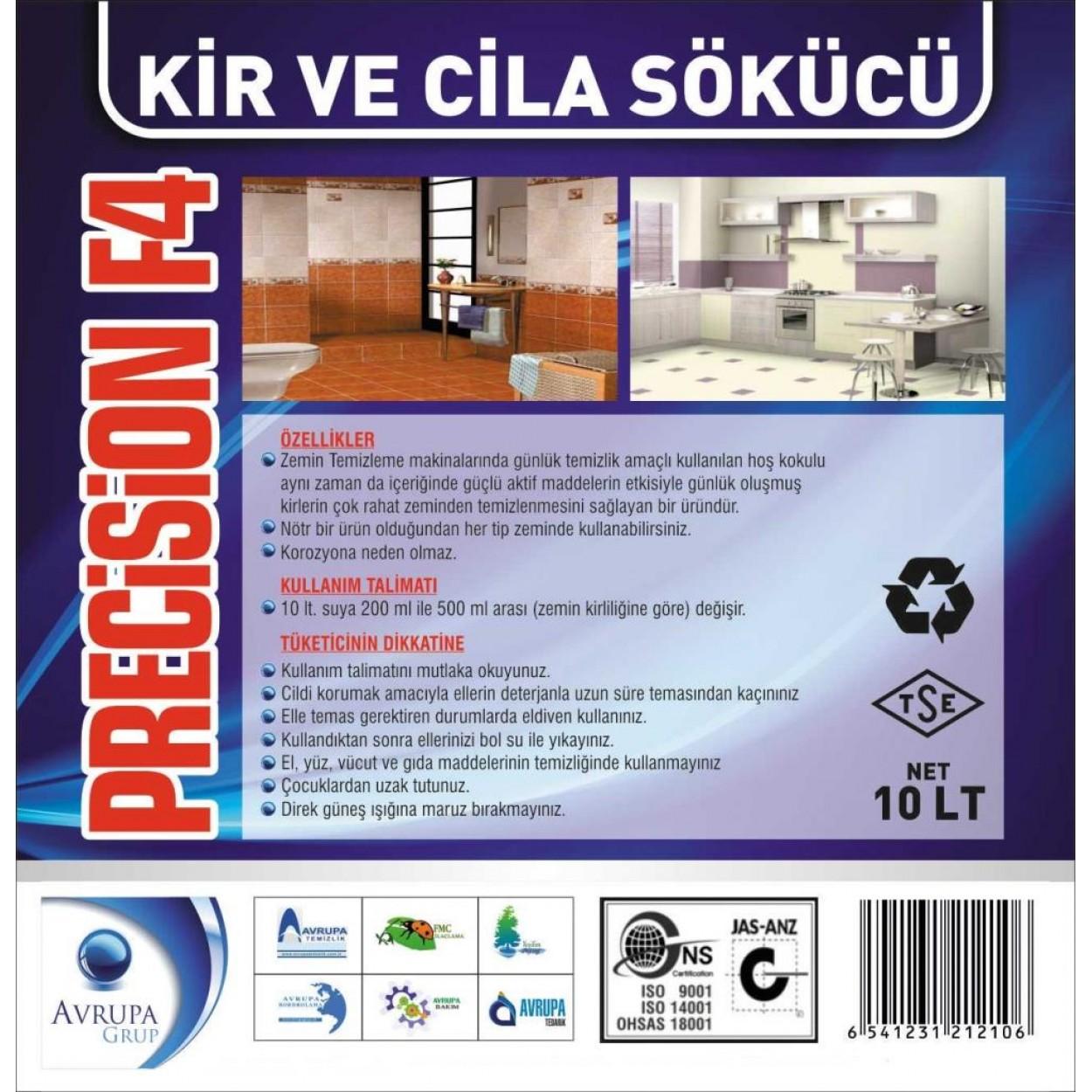 PRECİSİON F4 Kir ve Cila Sökücü 10 Litre