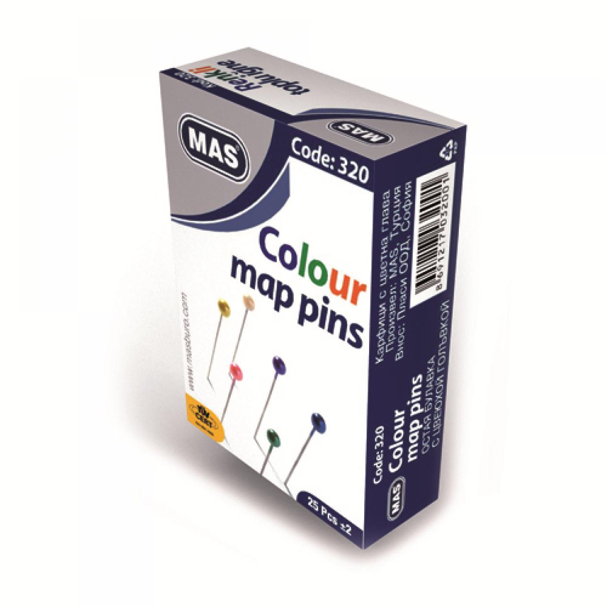 Renkli  Başlı Toplu İğne 32 mm.