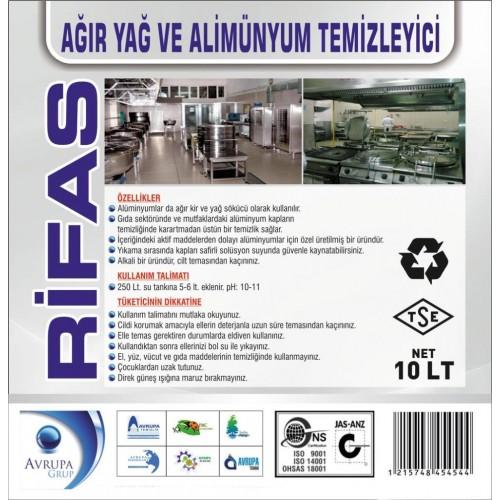 RİFAS Ağır Yağ ve Alüminyum Temizleyici 10 Litre