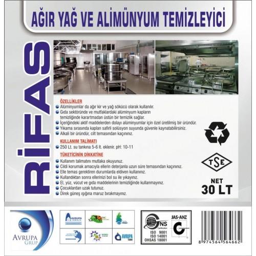 RİFAS Ağır Yağ ve Alüminyum Temizleyici 30 Litre