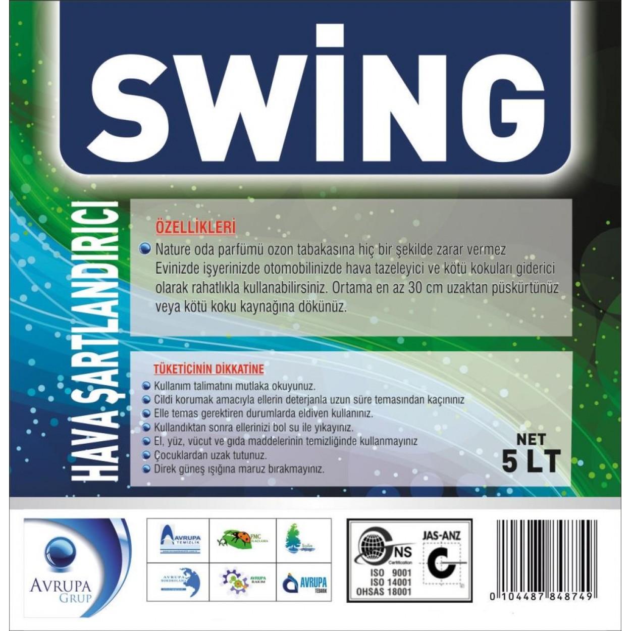 SWING Kötü Kokuları Gideren Hava Şartlandırıcı 5 Litre