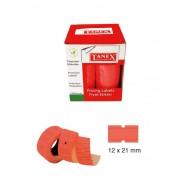 Tanex Fiyat Etiketi 21x12 cm Kırmızı Renk 800 Lü 6 lı Rulo