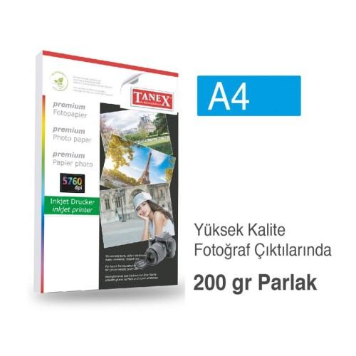 Tanex Fotoğraf Kağıdı A4 200 gr 210 mm x 297 mm 25 Sayfa