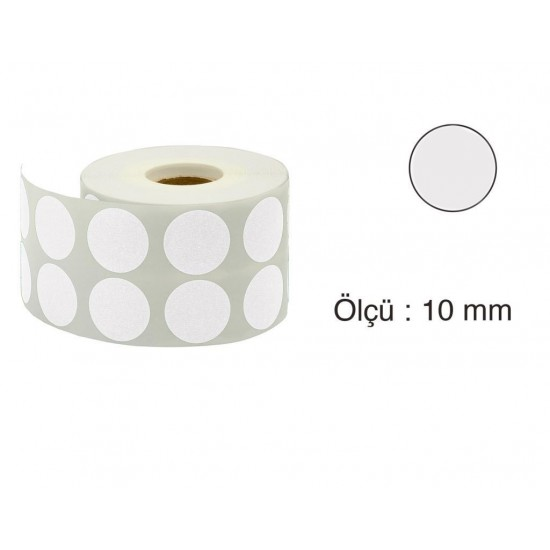 Tanex Nokta Etiket 10 mm 5000 Adet Gri