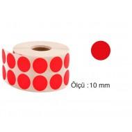 Tanex Nokta Etiket 10 mm 5000 Adet Kırmızı