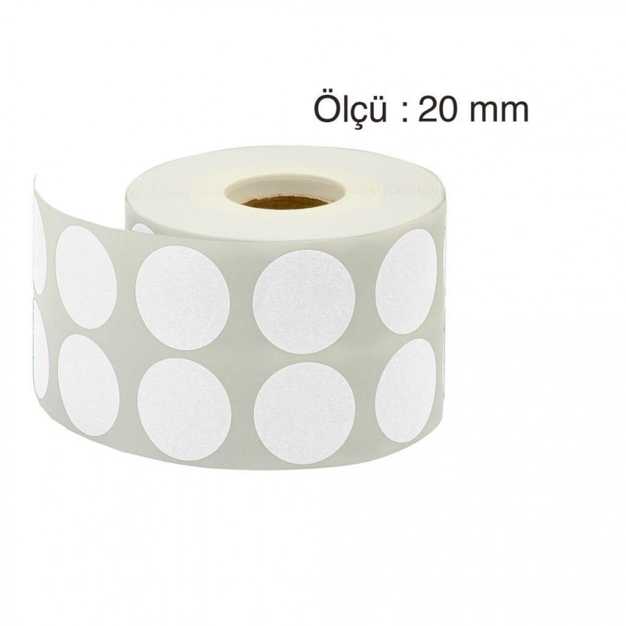Tanex Nokta Etiket 20 mm 2500 Adet Gri