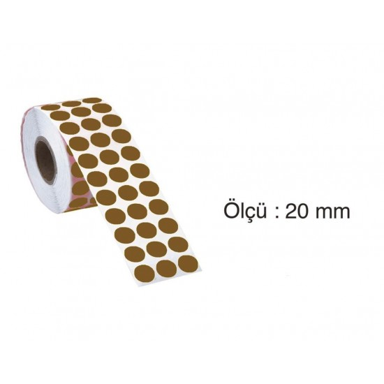 Tanex Nokta Etiket 20 mm 2500 Adet Kraft