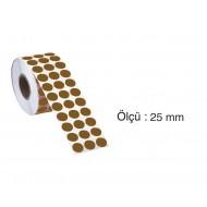 Tanex Nokta Etiket 25 mm 2500 Adet Kraft