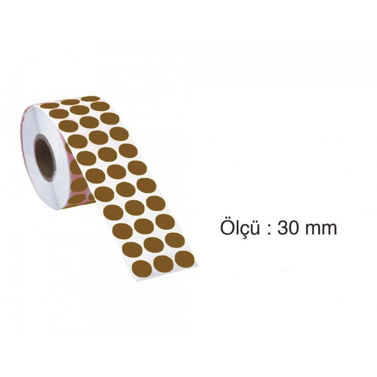Tanex Nokta Etiket 30 mm 2000 Adet Kraft