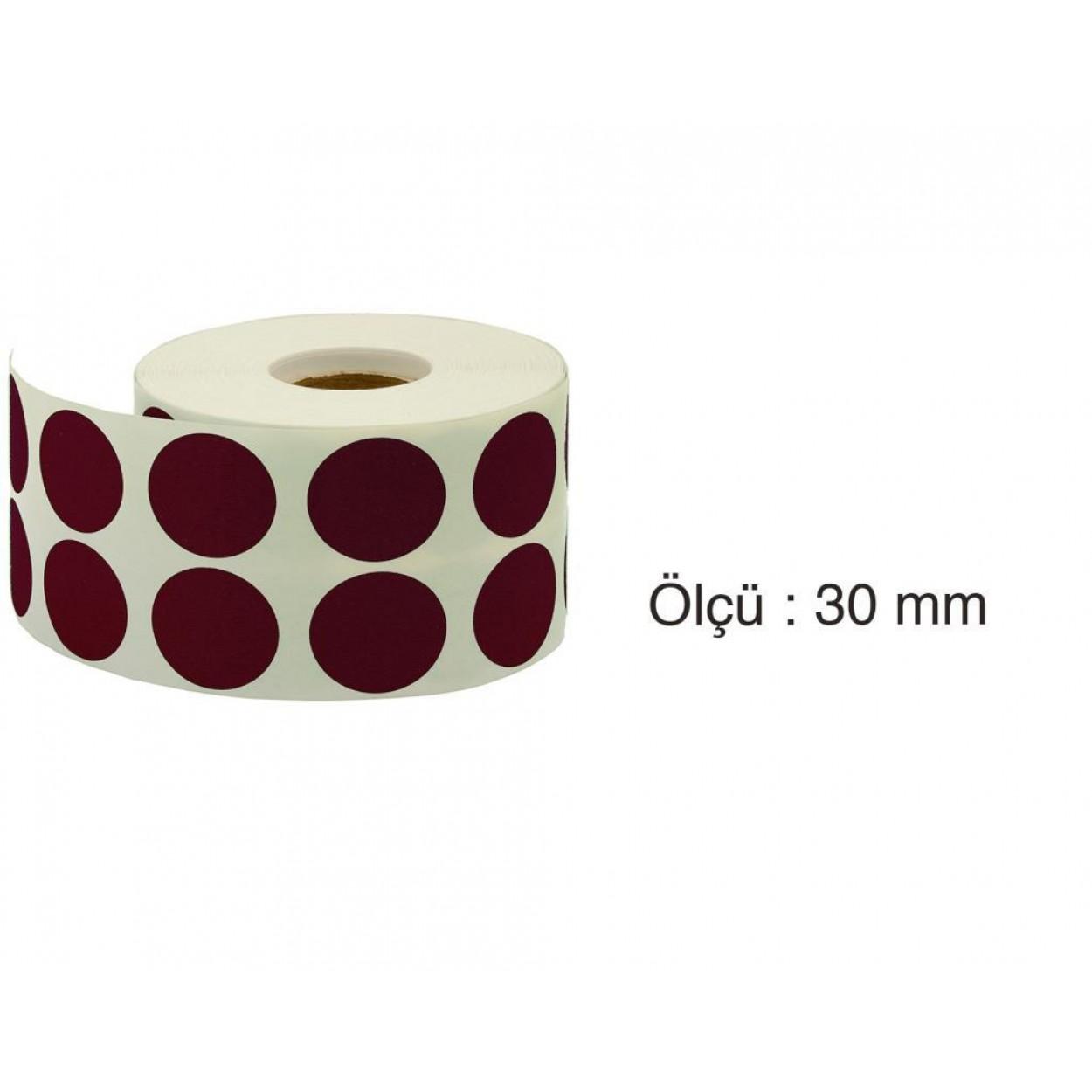 Tanex Nokta Etiket 30 mm 2000 Adet Mor