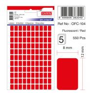 Tanex Ofc-104 Flo Kırmızı Ofis Etiketi